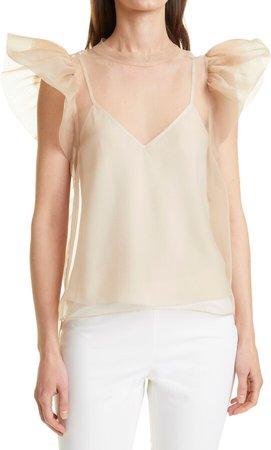 Corina Ruffle Short Sleeve Blouse