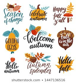 Fall Quote Images, Stock Photos & Vectors | Shutterstock