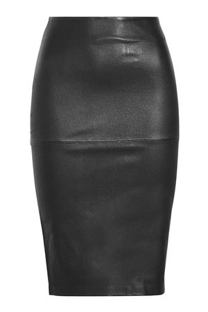 By Malene Birger - Leather Pencil Skirt - black