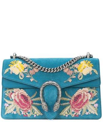 Blue Gucci Dionysus Gg Floral Shoulder Bag   Farfetch.com