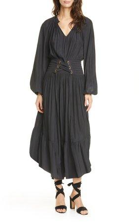 Morgen Tie Waist Long Sleeve Dress