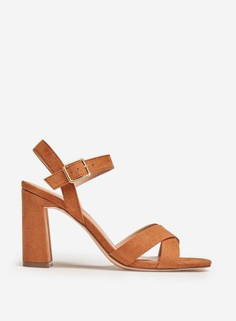 Tan' Selena' Heeled Sandals | Dorothy Perkins