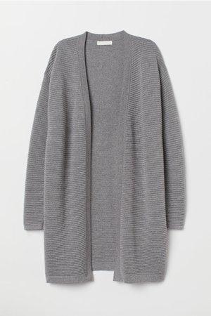 Textured-knit Cardigan - Gray melange - Ladies | H&M CA