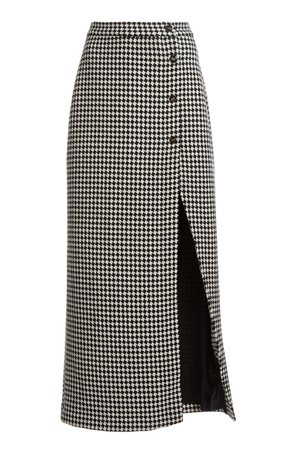 The Sadie Checked Wool Skirt by Giuliva Heritage | Moda Operandi