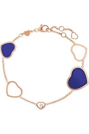 Chopard | Happy Hearts 18-karat rose gold, diamond and lapis lazuli bracelet | NET-A-PORTER.COM