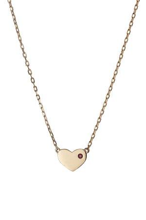 Crystal Embellished Heart Necklace Gr. One Size