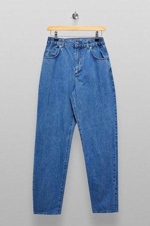 Bleach Elastic Baggy Jeans | Topshop