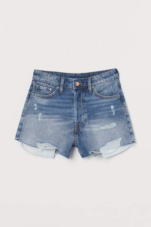 Denim Shorts High Waist - Blue