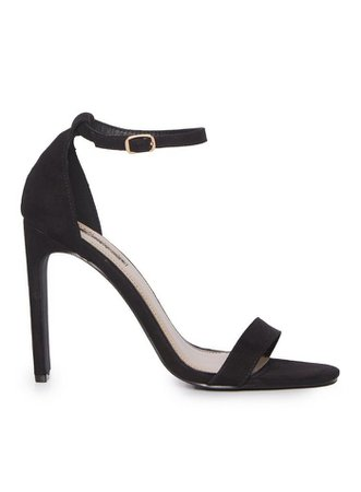 SALSA Black Barely There Heeled Sandals   Miss Selfridge
