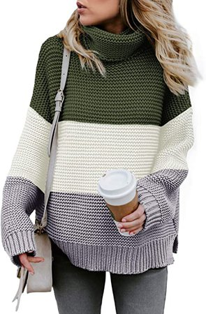 Amazon.com: Asvivid Womens Turtleneck Long Sleeve Chunky Knit Pullover Sweater Tops: Clothing