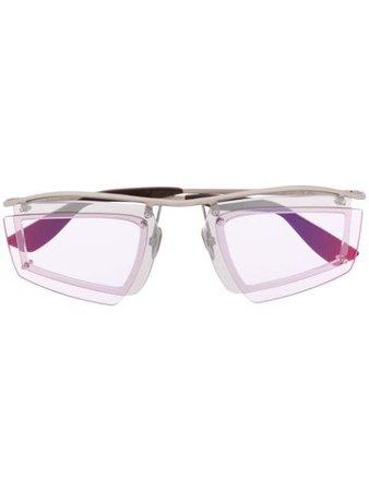 Acne Studios double-layer Shield Sunglasses - Farfetch