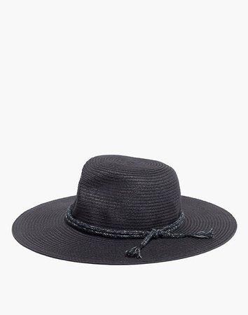 Women's Packable Mesa Straw Hat   Madewell black
