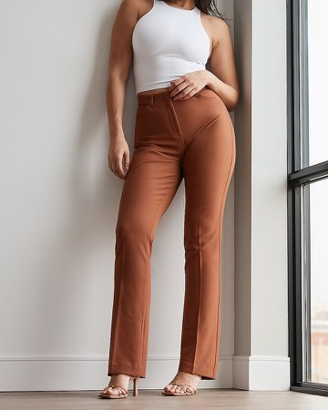 High Waisted Supersoft Twill Curvy Bootcut Pant