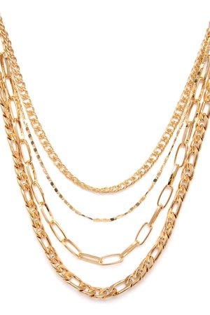 Gold Multi Chain Layered Necklace