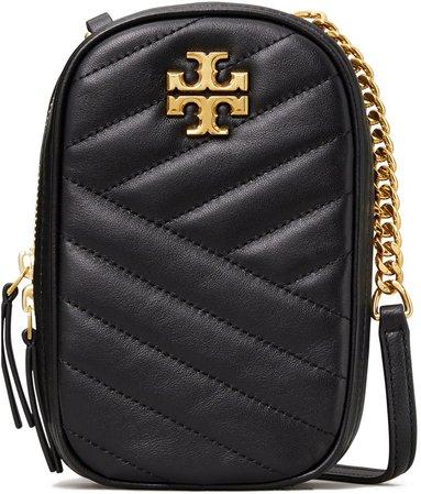 Kira Chevron Leather Crossbody Bag