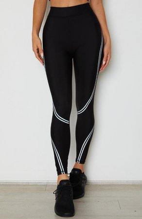 Switched On Panel Leggings Black | White Fox Boutique USA