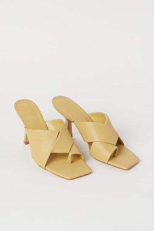 Mules - Light yellow - Ladies   H&M GB