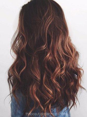 brown hair loose curls
