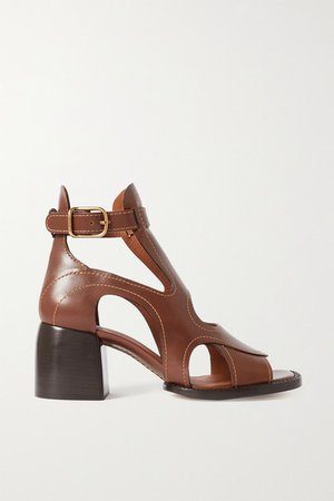 Gaile Leather Sandals - Brown