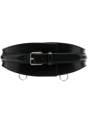 Alexander McQueen Wide Leather Belt - Farfetch