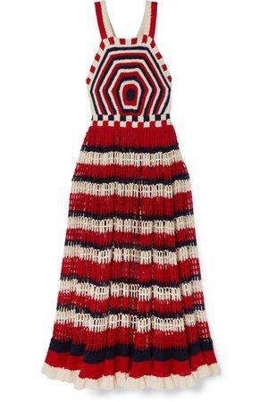 Ulla Johnson | Paz crocheted cotton midi dress | NET-A-PORTER.COM