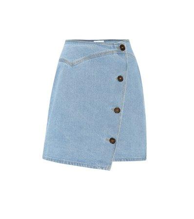 Amita denim wrap skirt