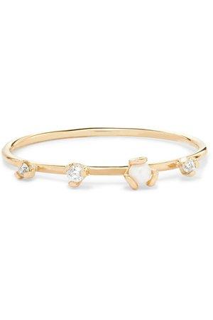 SARAH & SEBASTIAN   Petite Heirloom 9-karat gold, diamond and pearl ring   NET-A-PORTER.COM