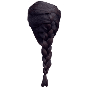 Dark Brown Hair French Braid