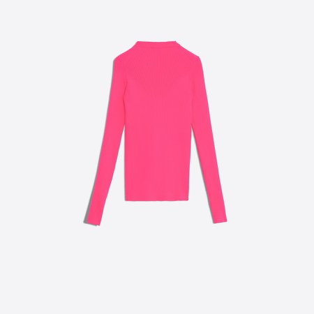 NEON PINK Fitted Sweater for Women   Balenciaga