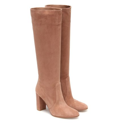Gianvito Rossi - Glen 85 suede knee-high boots | Mytheresa
