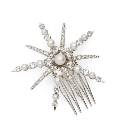 LELET NY STARLET PEARL AND CRYSTAL PETITE COMB