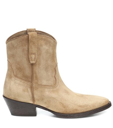 West 45 Suede Ankle Boots | Saint Laurent - Mytheresa