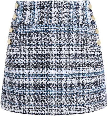 Donald Side Button Mini Skirt
