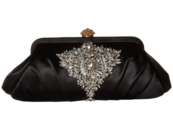 Badgley Mischka - Gem Clutch (Black) Clutch Handbags