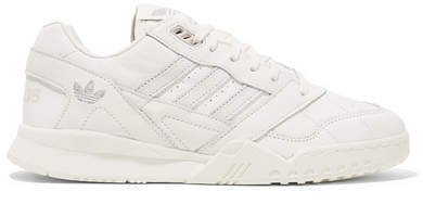 A.r. Trainer Suede-trimmed Quilted Leather Sneakers - Off-white