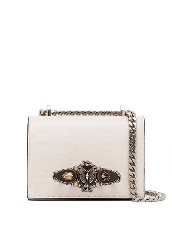 Alexander Mcqueen Butterfly Lizard Effect Shoulder Bag