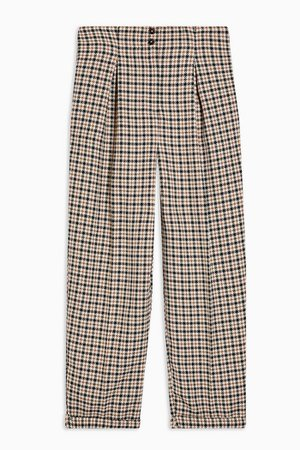 Check Ovoid Peg Trousers | Topshop