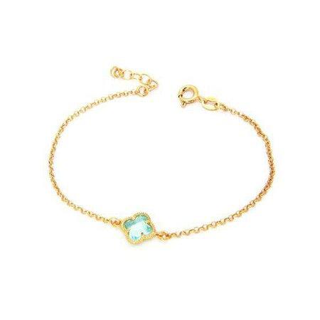 Fashiontage - Golden Crystal Bracelet - 916673986621