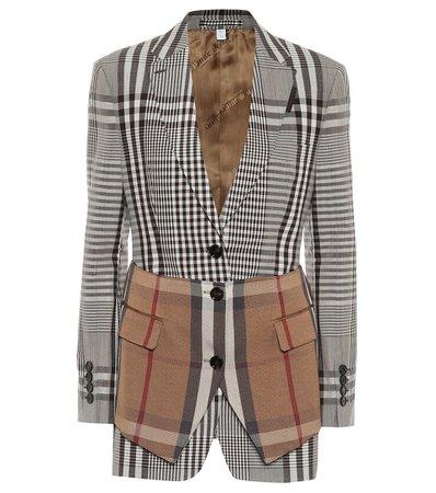 Checked Wool-Blend Blazer - Burberry | Mytheresa
