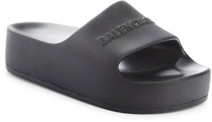 Logo Platform Slide Sandal