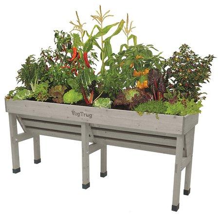 VegTrug Grey Wash Wall Hugger Raised Garden Bed Planter - Medium | The Home Depot Canada