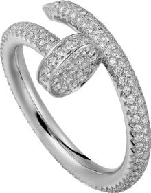 CRN4748700 - Juste un Clou ring - White gold, diamonds - Cartier