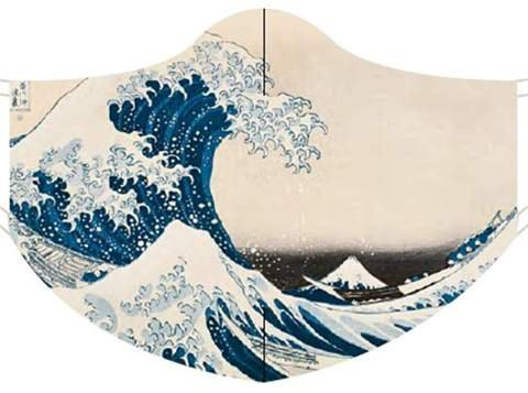 Loqi Museum Face Mask- Katsushika Hokusai The Great Wave – Centre Stage accessories delta