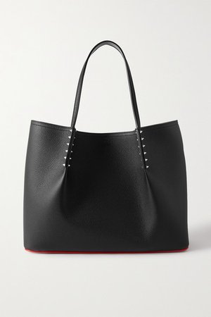 Cabarock Spiked Textured-leather Tote - Black