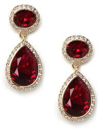 red ruby earrings - Google Search