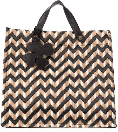 woven top-handle tote