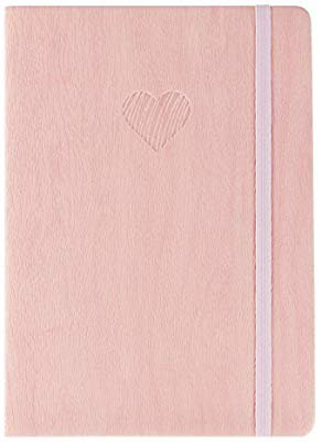 "Amazon.com : Red Co Journal with Embossed Heart, 240 Pages, 5""x 7"" Dotted, Pink : Office Products"