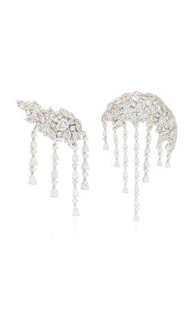 Yeprem 18K White Gold Snowflakes Earrings