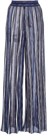 Missoni Printed Straight-Leg Lurex Pants