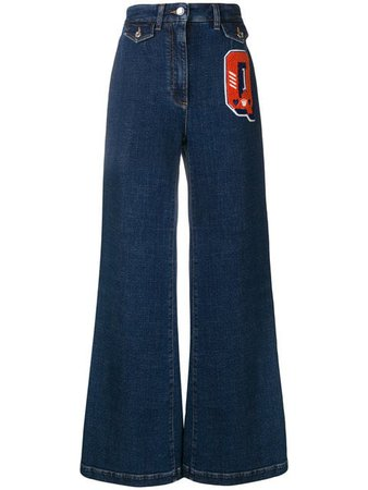 Dolce & Gabbana Q patch flared jeans £795 - Fast Global Shipping, Free Returns